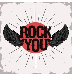 Rock music print vector image