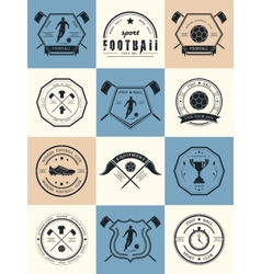 Set of Football Badges Logos and Icons vector image