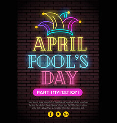 1st april fools day poster background vector