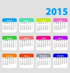 2015 calendar in Italian vector image