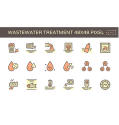 20180703 waste water icon 48x48 red vector