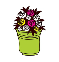 A view of flower pot vector image