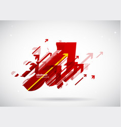 abstract red arrows background wallpaper vector image