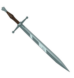 ancient sword with handle medieval armour weapon vector image