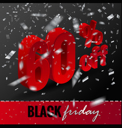banner template for black friday sale 3d vector image