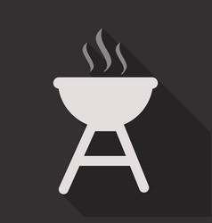 Bbq party banner grill with fire isolated vector