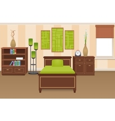 Bedroom Interior Concept vector