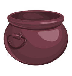 Big cauldron icon cartoon style vector
