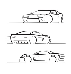 black auto set vector image