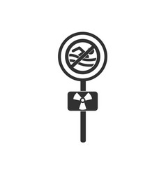 Black icon on white background no swimming sign vector
