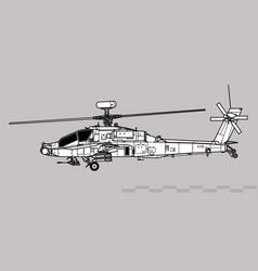 Boeing ah-64d apache longbow vector