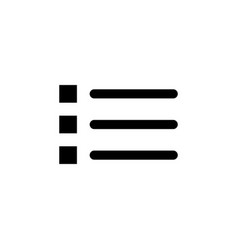 bullet list icon signs and symbols can be used vector image