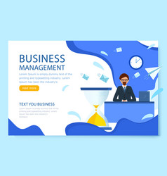 business management landing page manager is vector image
