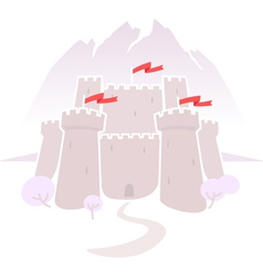 castle in mountains vector image