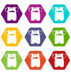 children slider icons set 9 vector image