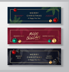 christmas banners abstract greeting or vector image