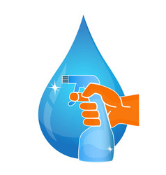 cleaning service and drop of water vector image