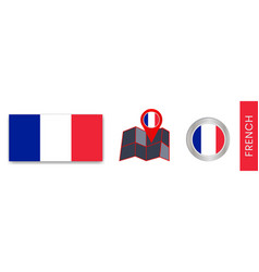 Collection national flags france isolated vector