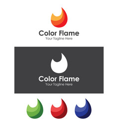 color flame logo template best for your branding vector image