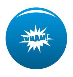 Comic boom wham icon blue vector