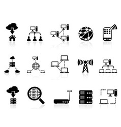computer communication icons set vector image