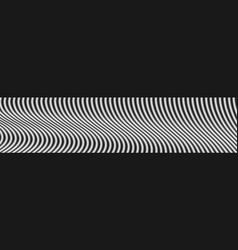 contrast black and white wavy lines web header vector image