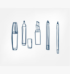 cosmetic pencil line clip art isolated vector image