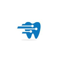 dental technology logo vector image