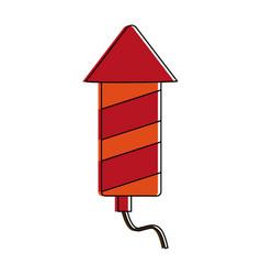 firecracker firework icon image vector image
