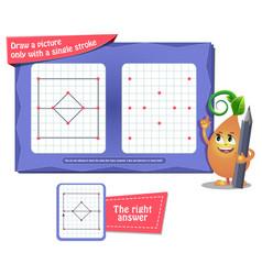 game draw single stroke vector image