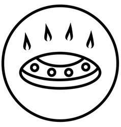 gas stove sign symbol vector image