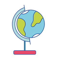 Global earth planet desk design vector