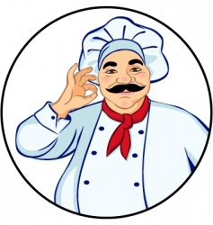 happy chef vector image