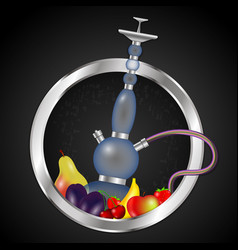hookah with fruit vector image