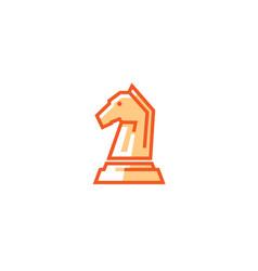 Horse head chess logo vector