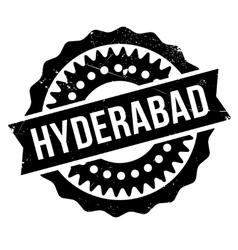 Hyderabad stamp rubber grunge vector