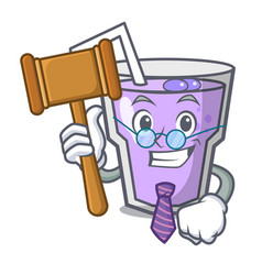 Judge berry smoothie mascot cartoon vector