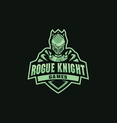 Knight mascot for sportssportsclubteam vector