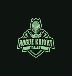 knight mascot for sportssportsclubteam vector image
