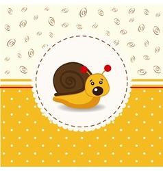 Little snail baby vector