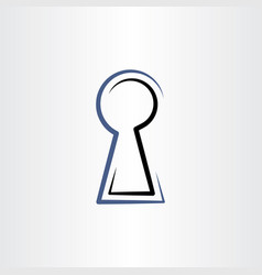 lock hole line icon sign vector image