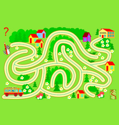 Logic puzzle game with labyrinth for children vector