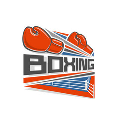 logo of a boxing vector image