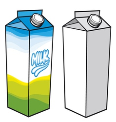 Milk carton with screw cap vector image vector image