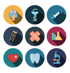 Modern medicine icons vector