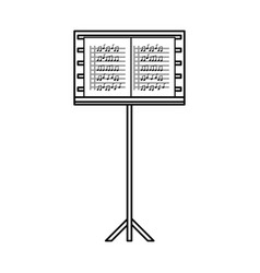 Musical partiture sheets vector