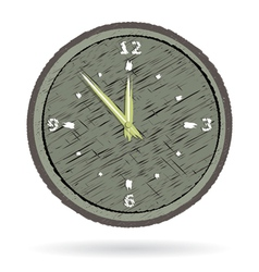 old cracked surface clock vector image