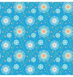 Pattern with bold and stylized flowers vector image