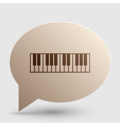 Piano Keyboard sign Brown gradient icon on bubble vector