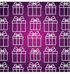 present gift box with ribbon bow background vector image